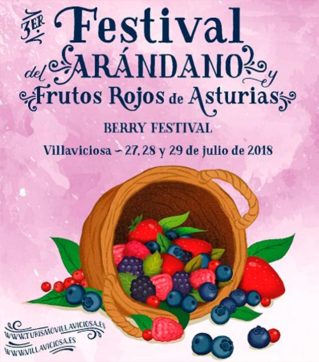 Cartel III Festival del arándano y frutos rojos de Villaviciosa